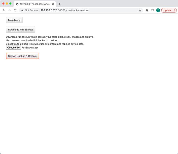 mobipos cms backup restore choose file