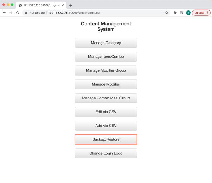mobipos cms backup restore