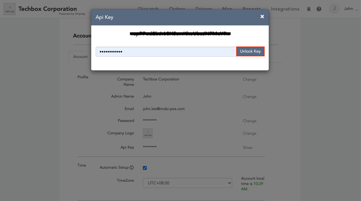 mobipos delivery online password api