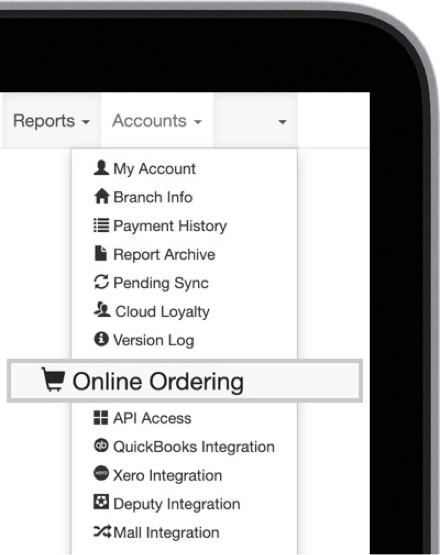 MobiPOS Online Ordering in CloudSync